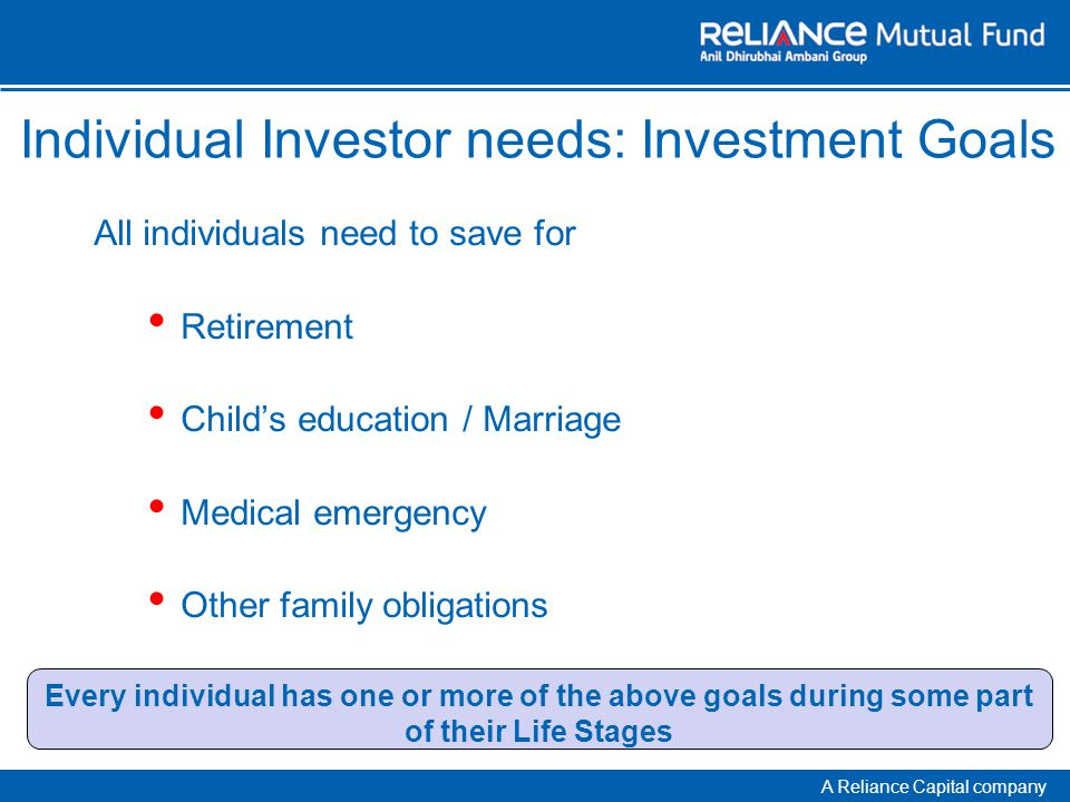 A Reliance Capital company Choose the Right Partner