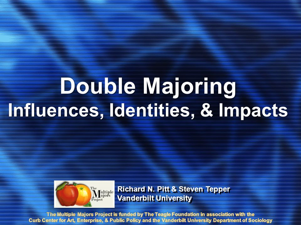 Double Majoring Influences, Identities, & Impacts Double Majoring Influences, Identities, & Impacts Richard N.