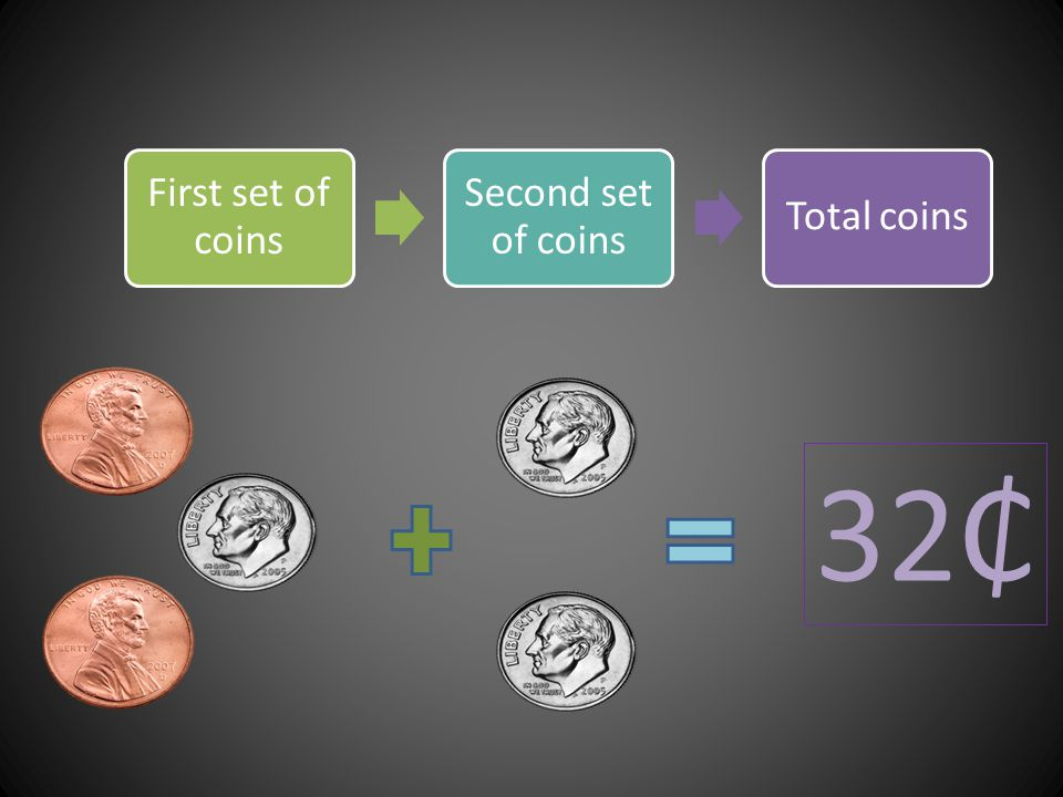 First set of coins Second set of coins Total coins 32