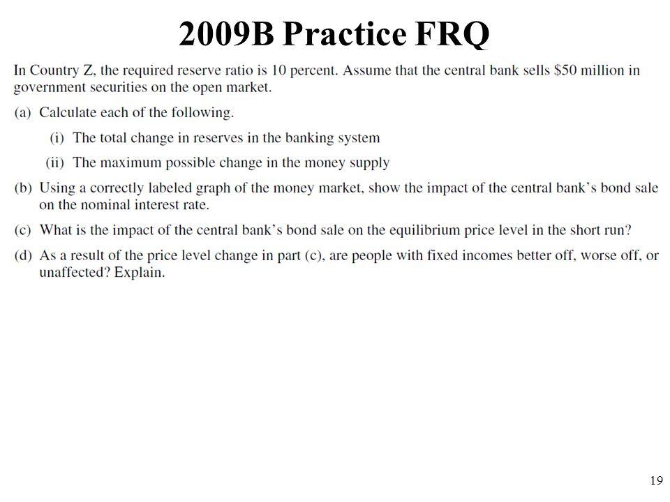 2009B Practice FRQ 19