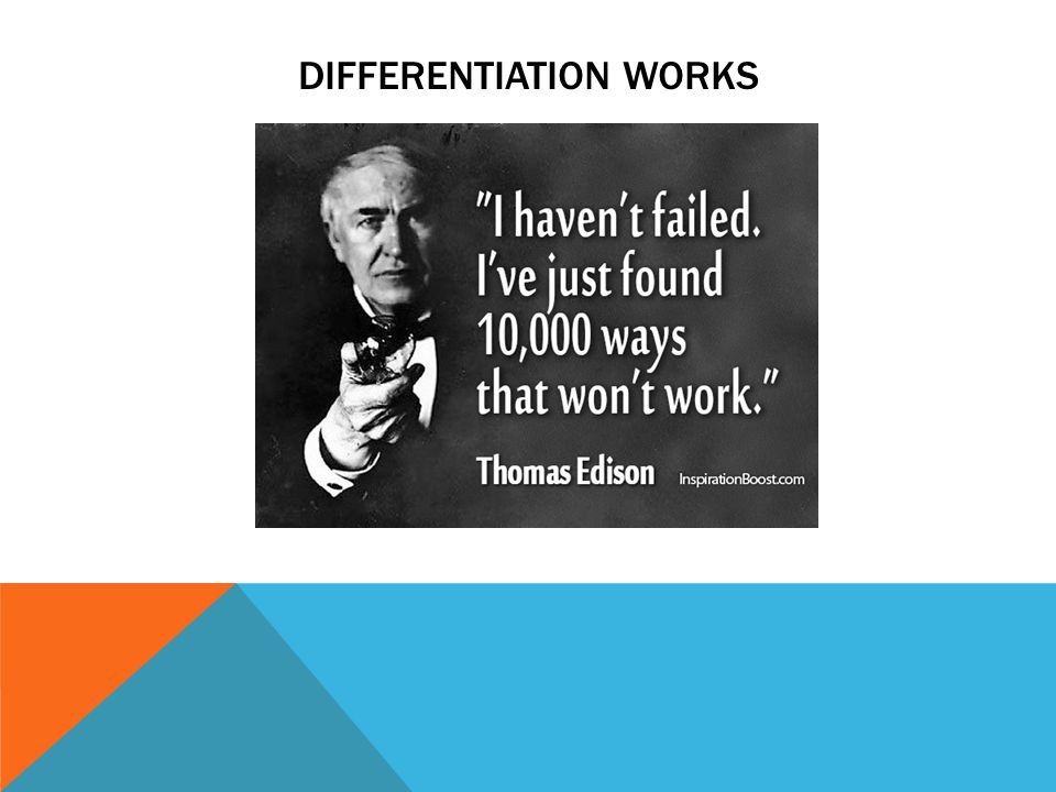 DIFFERENTIATION WORKS