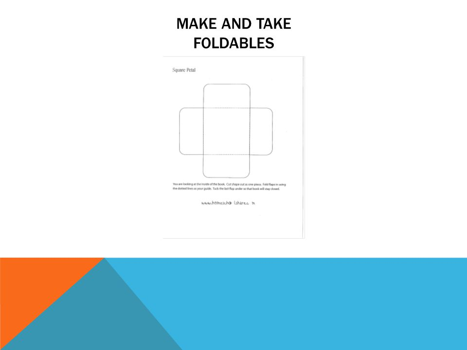 MAKE AND TAKE FOLDABLES