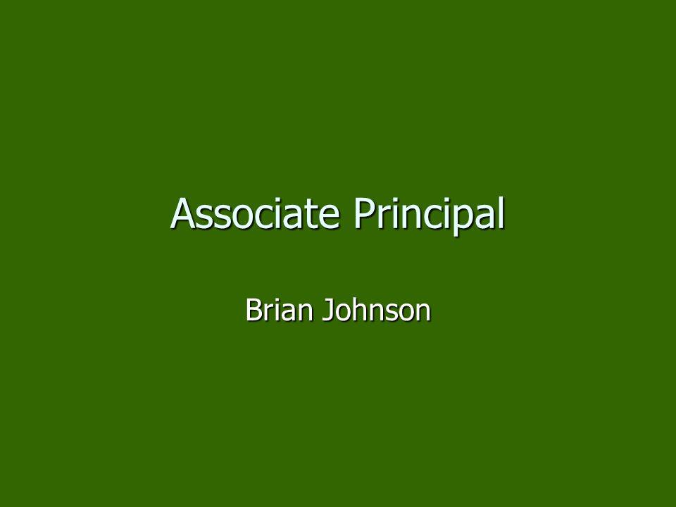 Associate Principal Brian Johnson