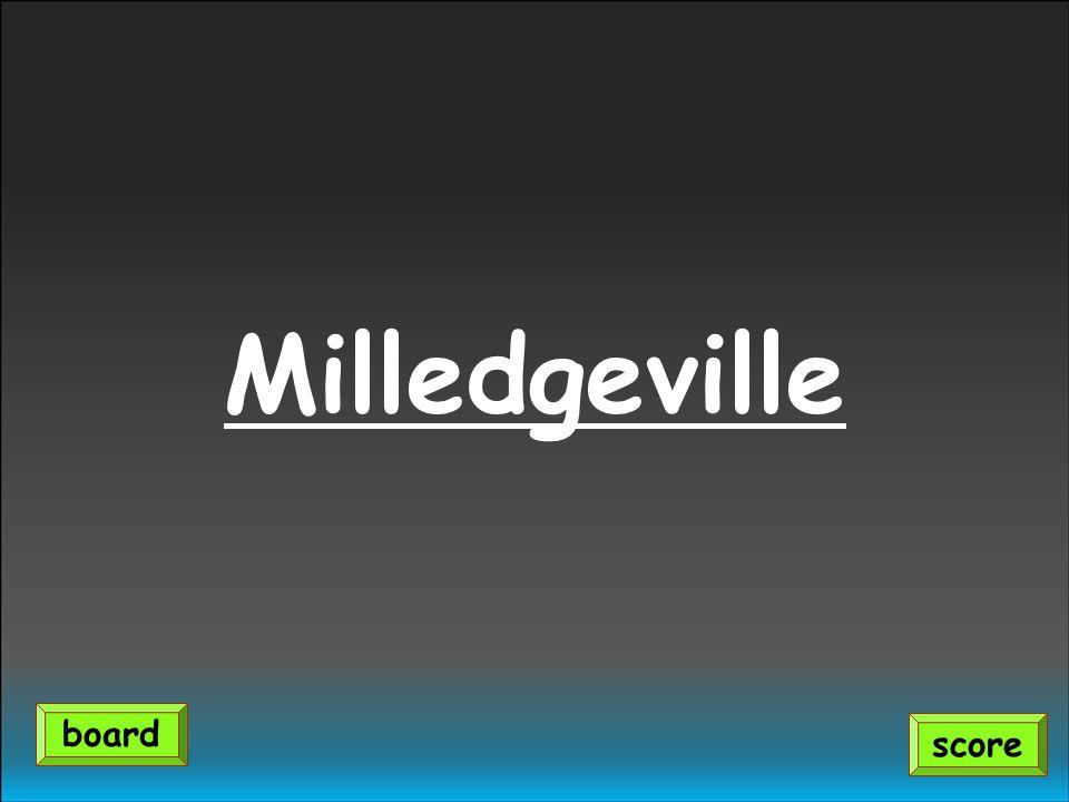 Milledgeville score board