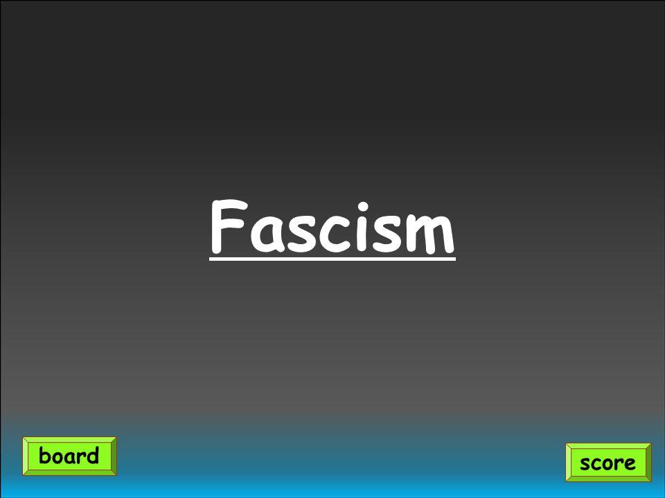 Fascism score board