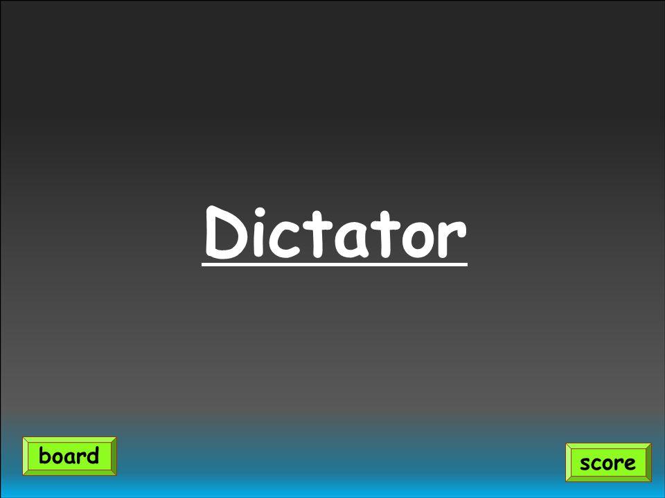 Dictator score board
