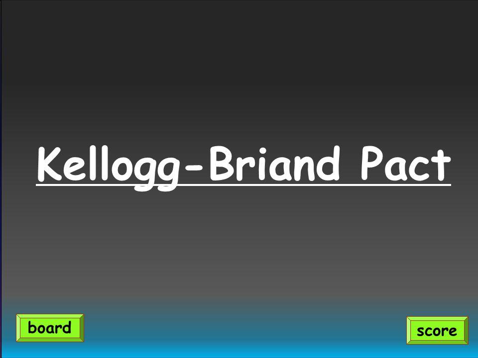 Kellogg-Briand Pact score board
