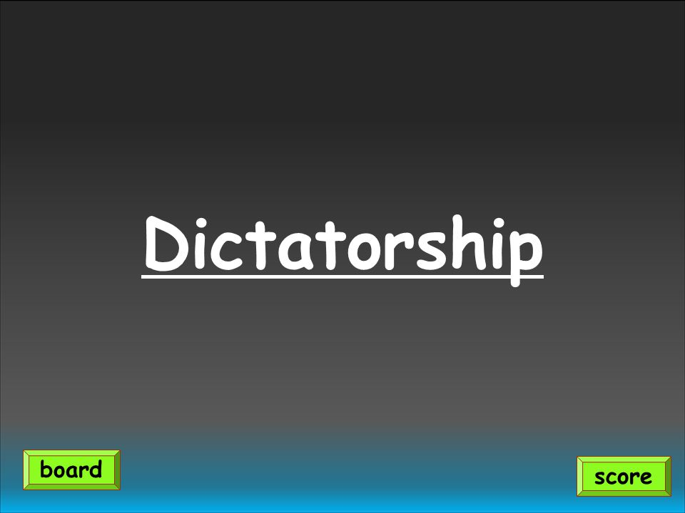 Dictatorship score board