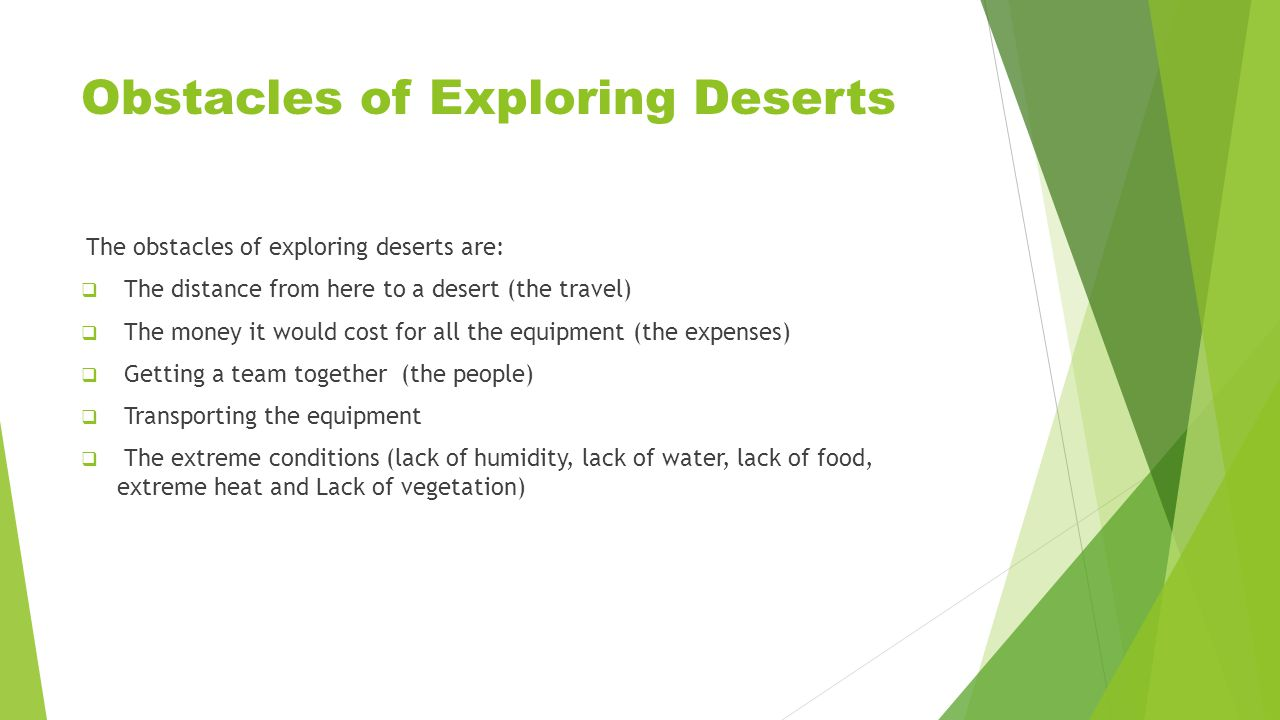 Investigating Deserts are an important part of the earth.