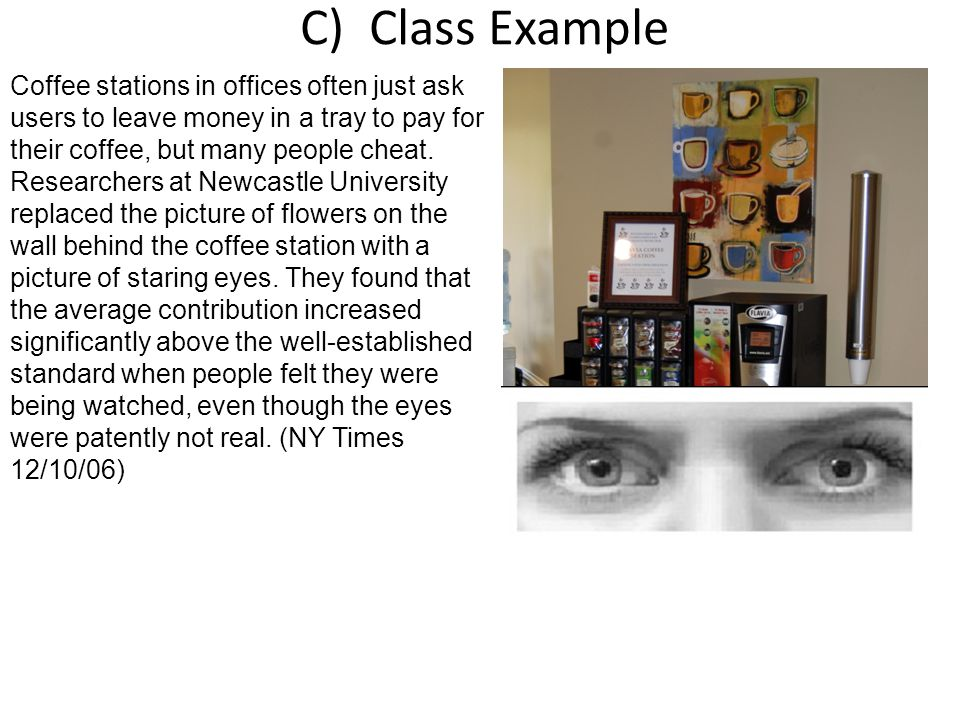 C) Class Example 1)Was this a survey, observational study or experiment – if a study tell what kind.