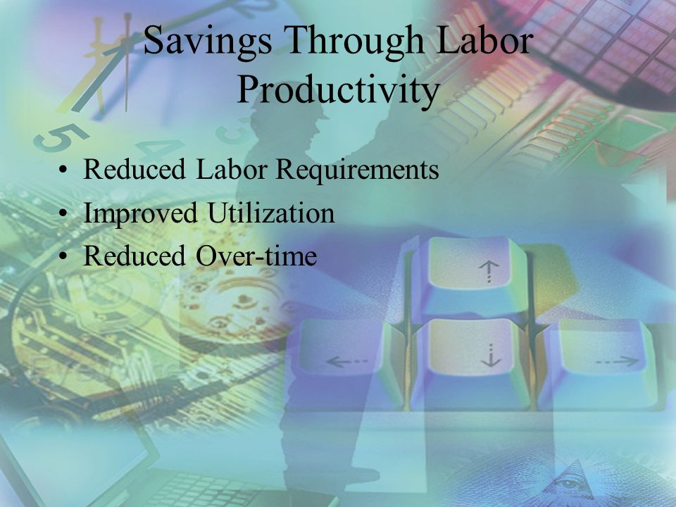Strategies for Improving Labor Productivity Reduced Labor Requirements –Rationalize PM frequencies –Outsource –Planning and Scheduling Improved Utilization –Planning and Scheduling –Priority System Reduced Over-time –Planning and Scheduling –Backlog Management