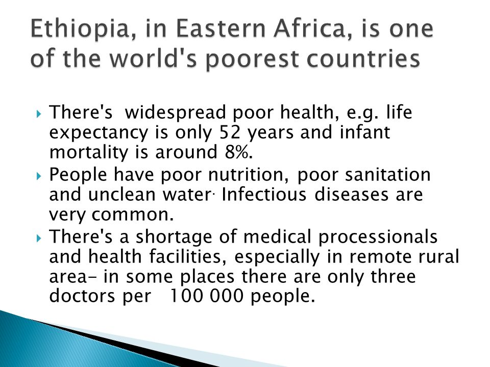 Ethiopia s government receives foreign aid to improve health, sanitation and access to clean water.