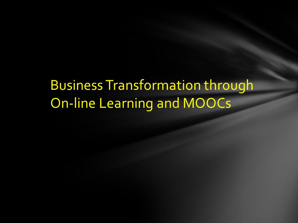 MOOCs (Massive Open On-line Courses) What? Why? Disruption? Revolution or Evolution?