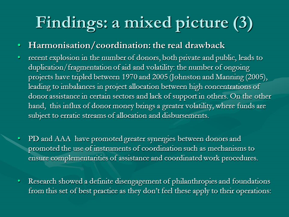 Findings: whats about business methods.