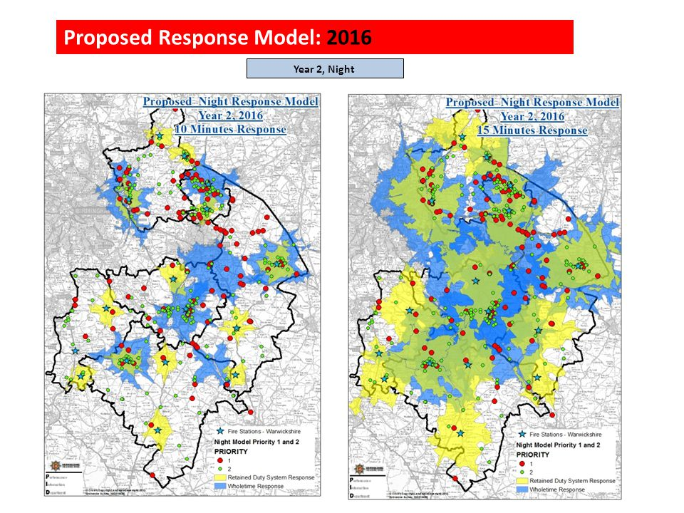 Proposed Response Model: 2016 Year 2, Night
