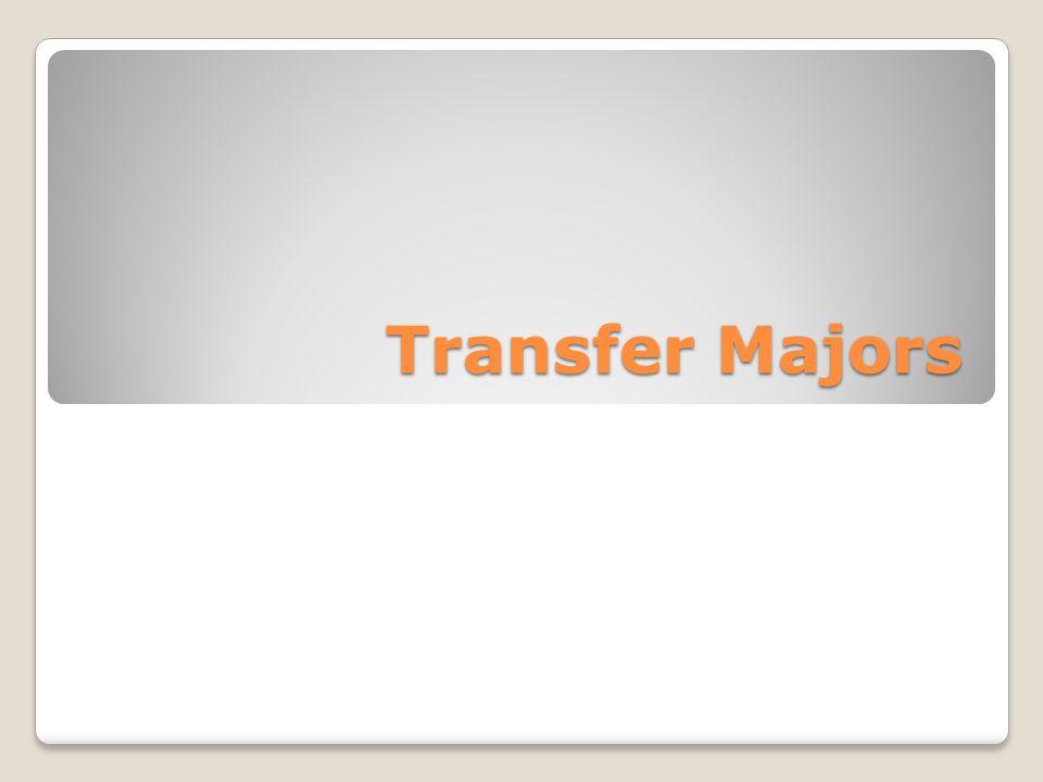 Transfer Majors