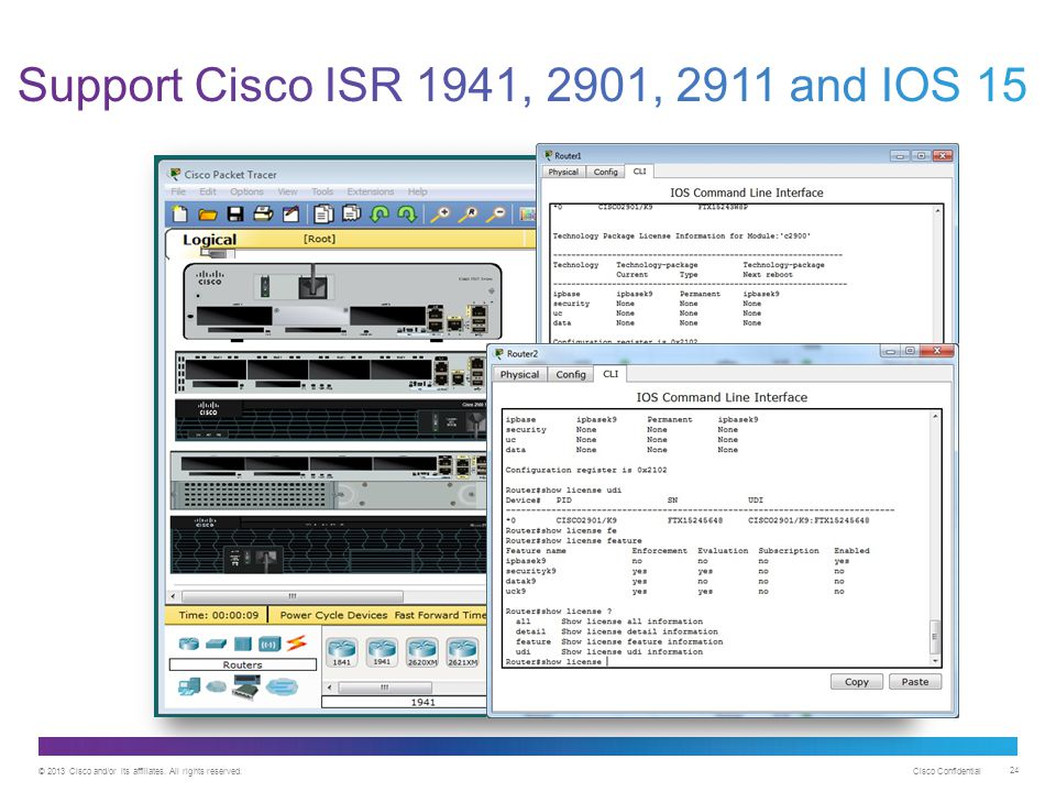 © 2013 Cisco and/or its affiliates. All rights reserved. Cisco Confidential 24