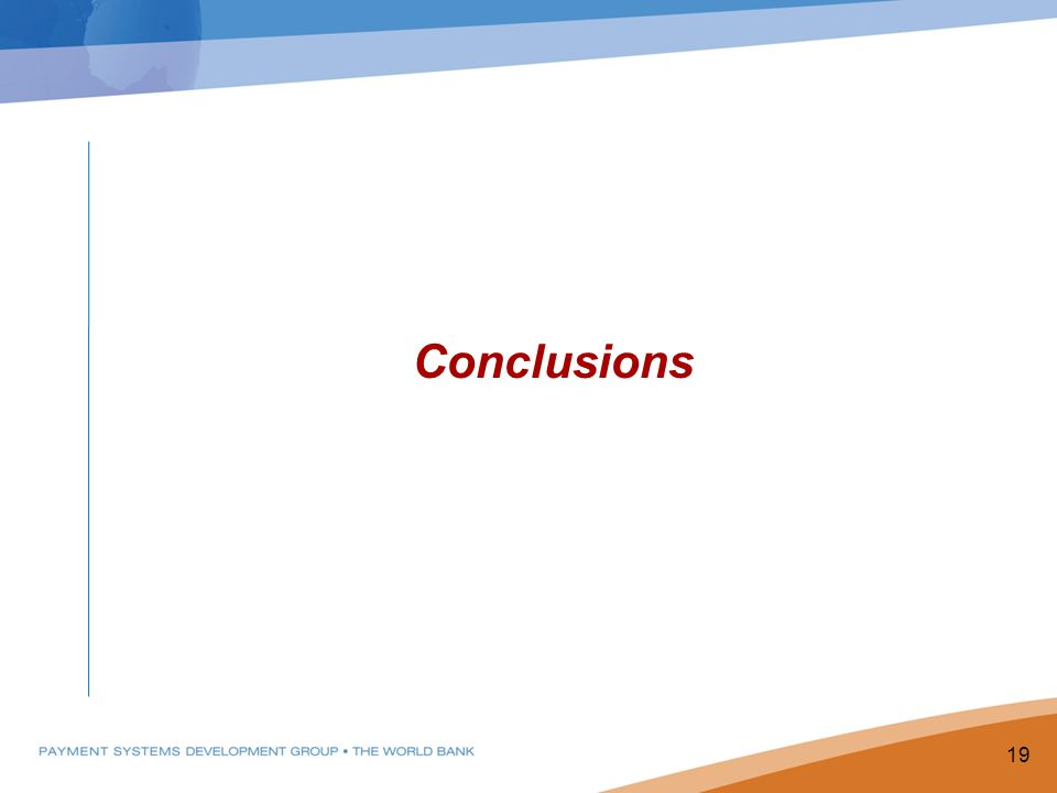 Conclusions 19