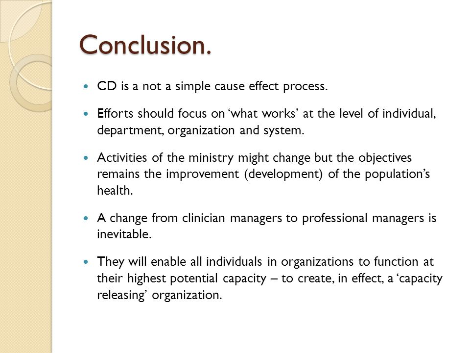 Conclusion. CD is a not a simple cause effect process.
