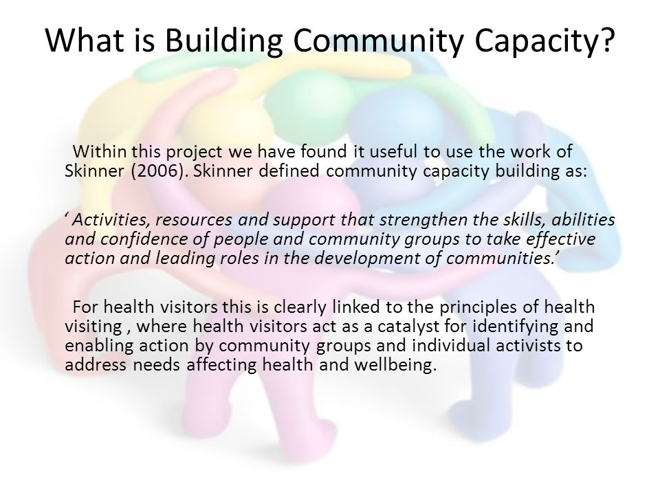 What is Building Community Capacity.