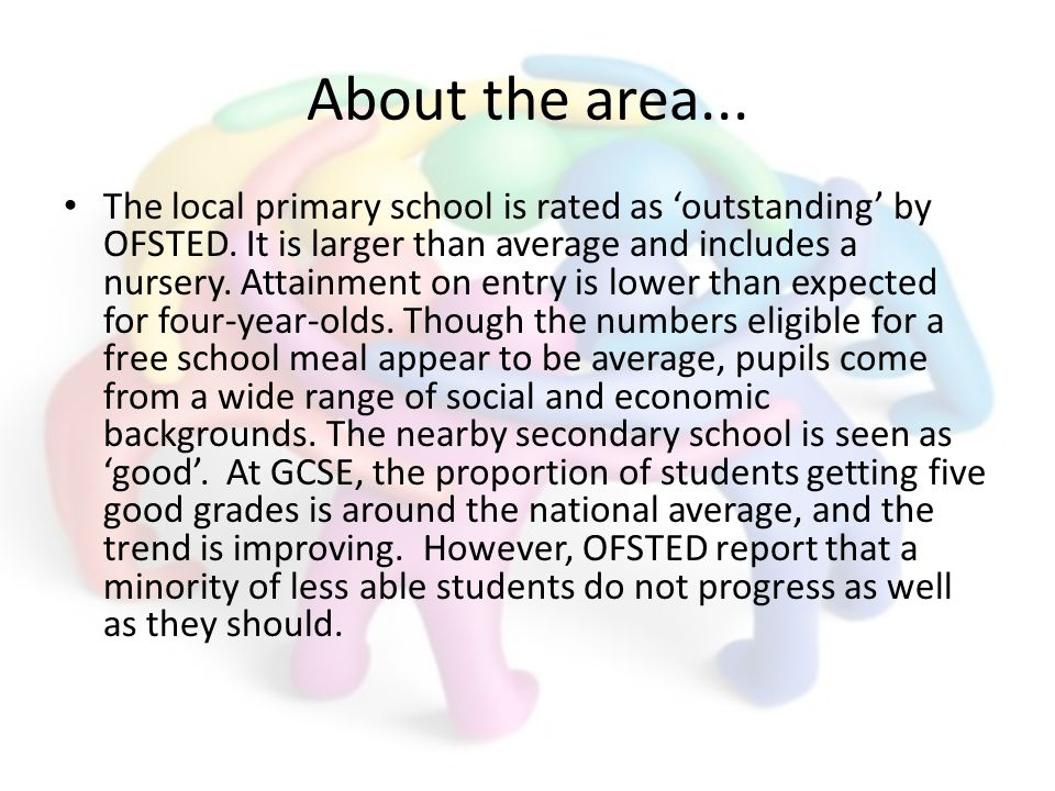 About the area... The local primary school is rated as outstanding by OFSTED.