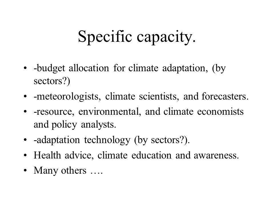 Specific capacity.