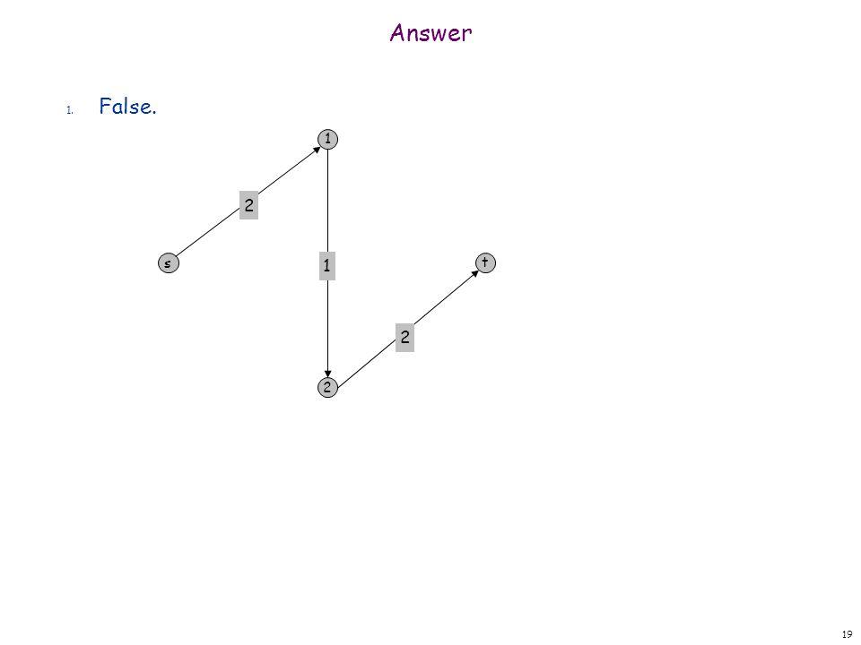 Answer 2. False 20 s 1 2 w 11 11 t 1 1 1 4