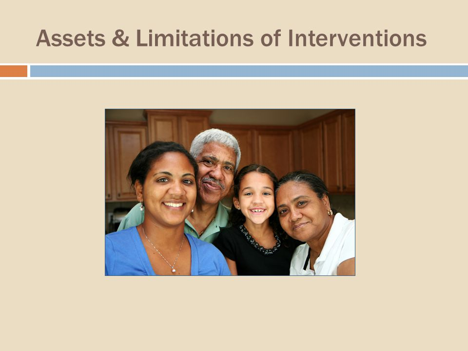 Assets & Limitations of Interventions