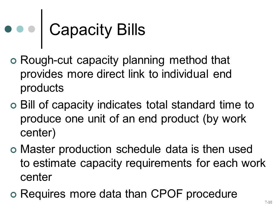 7-11 Capacity Bill Example Std.
