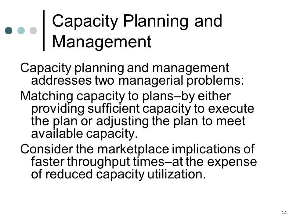 7-3 Agenda What is Capacity Planning.