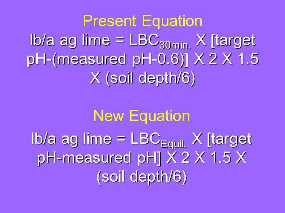 lb/a ag lime = LBC 30min.