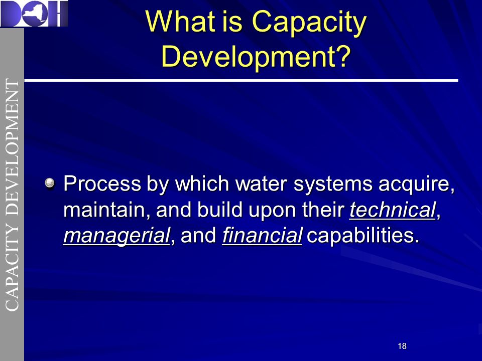 1818 What is Capacity Development.