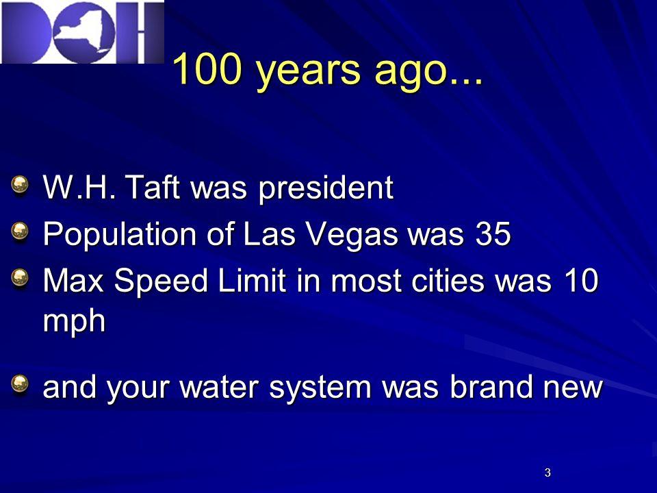 3 100 years ago... W.H.