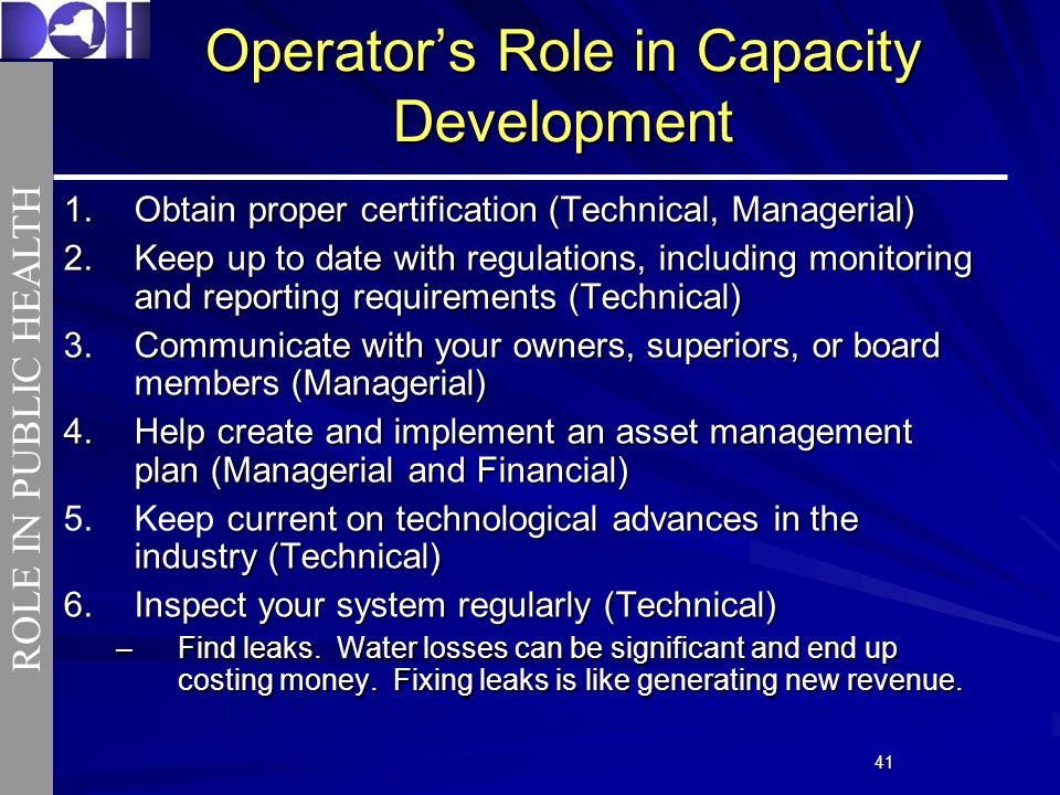 4141 Operators Role in Capacity Development 1.