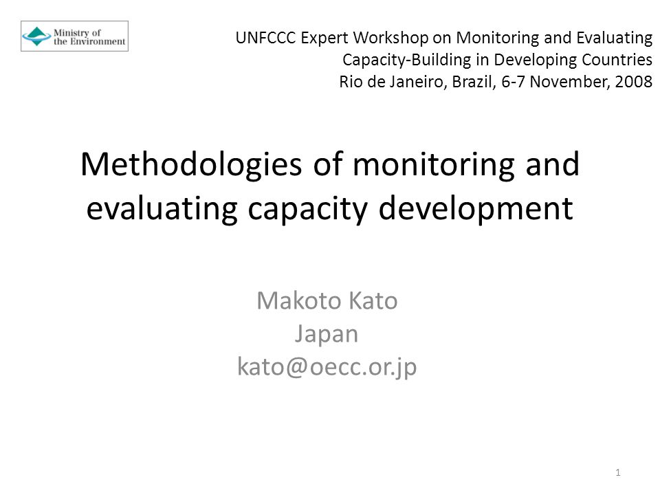 Outline Defining Capacity, and Capacity Development Methodologies and Tools for Monitoring and Evaluating Capacity Development Comparison.