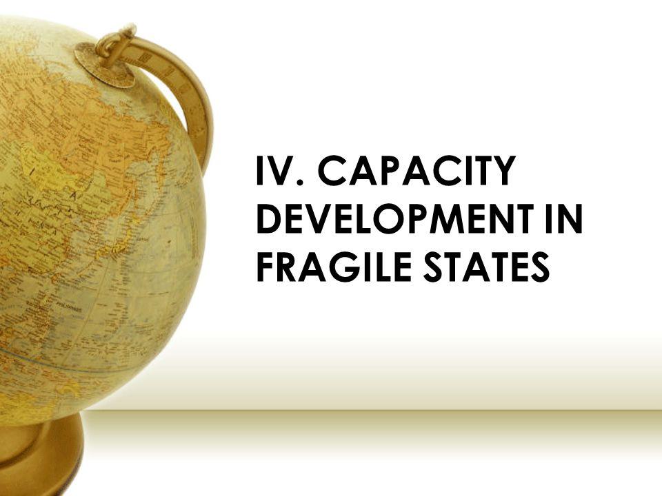 IV. CAPACITY DEVELOPMENT IN FRAGILE STATES
