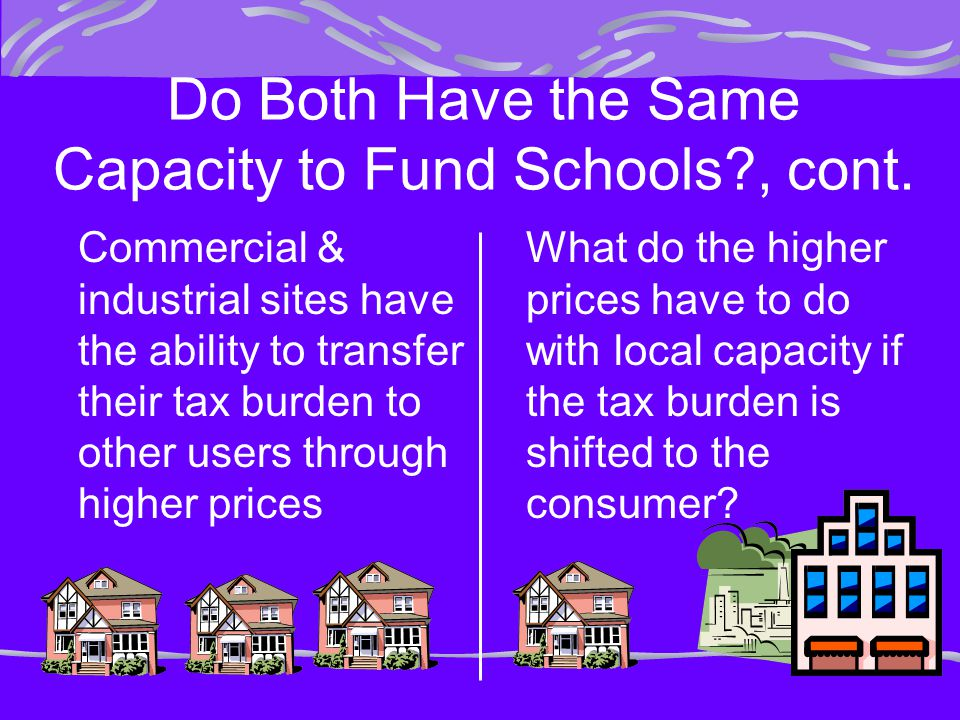 Do Both Have the Same Capacity to Fund Schools , cont.