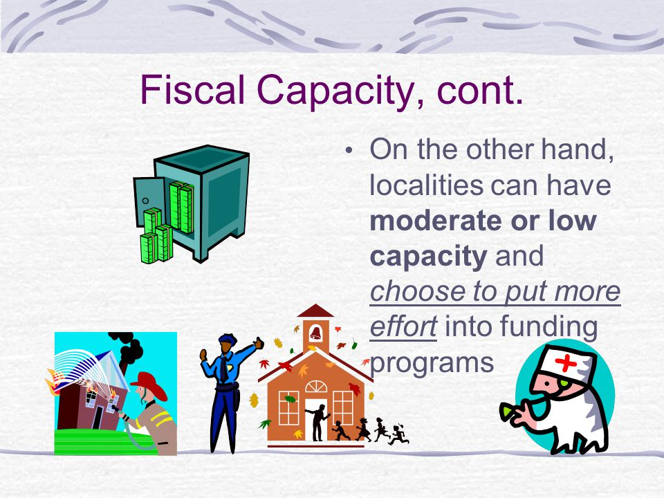 Fiscal Capacity, cont.