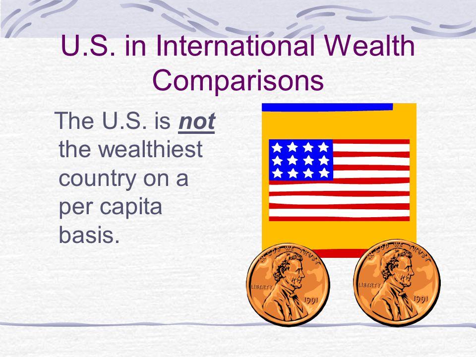 U.S. in International Wealth Comparisons The U.S.