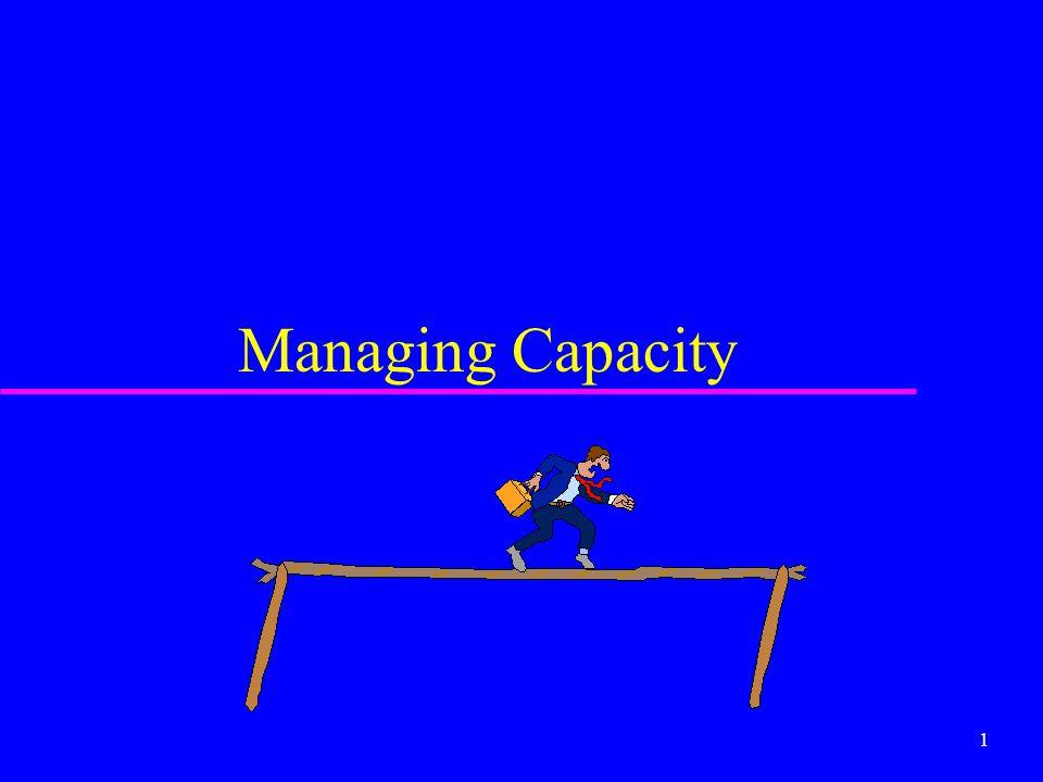 1 Managing Capacity