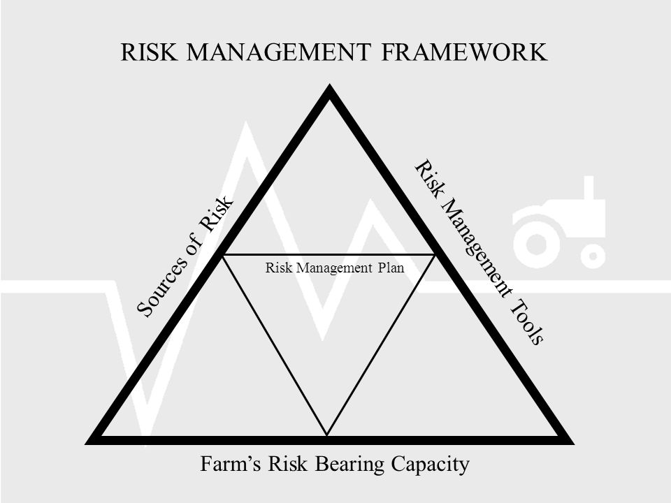 RISK MANAGEMENT FRAMEWORK Risk Management Plan Sources of Risk Risk Management Tools Farms Risk Bearing Capacity