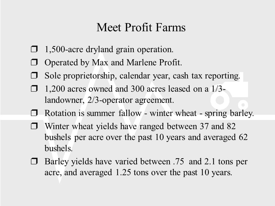 Meet Profit Farms r1,500-acre dryland grain operation.