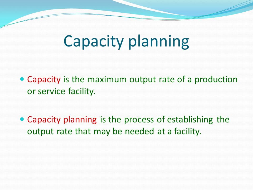 Measuring Capacity Examples