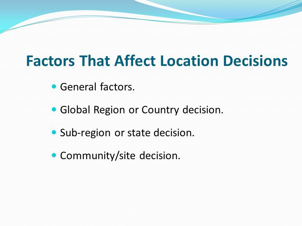 General Factors Globalization.