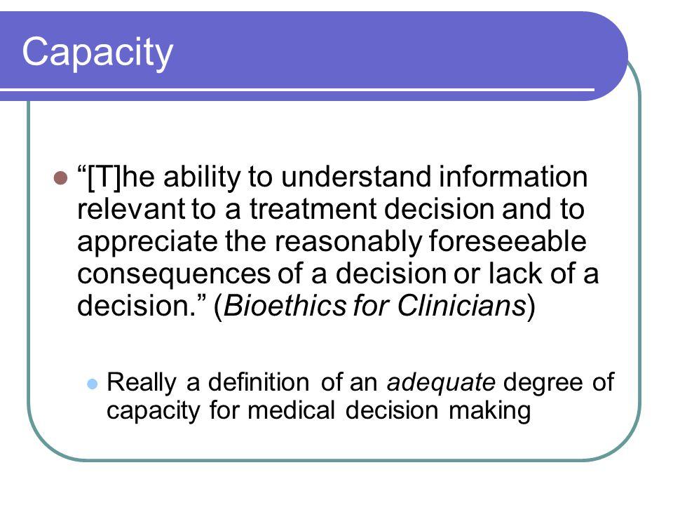 Capacity vs.