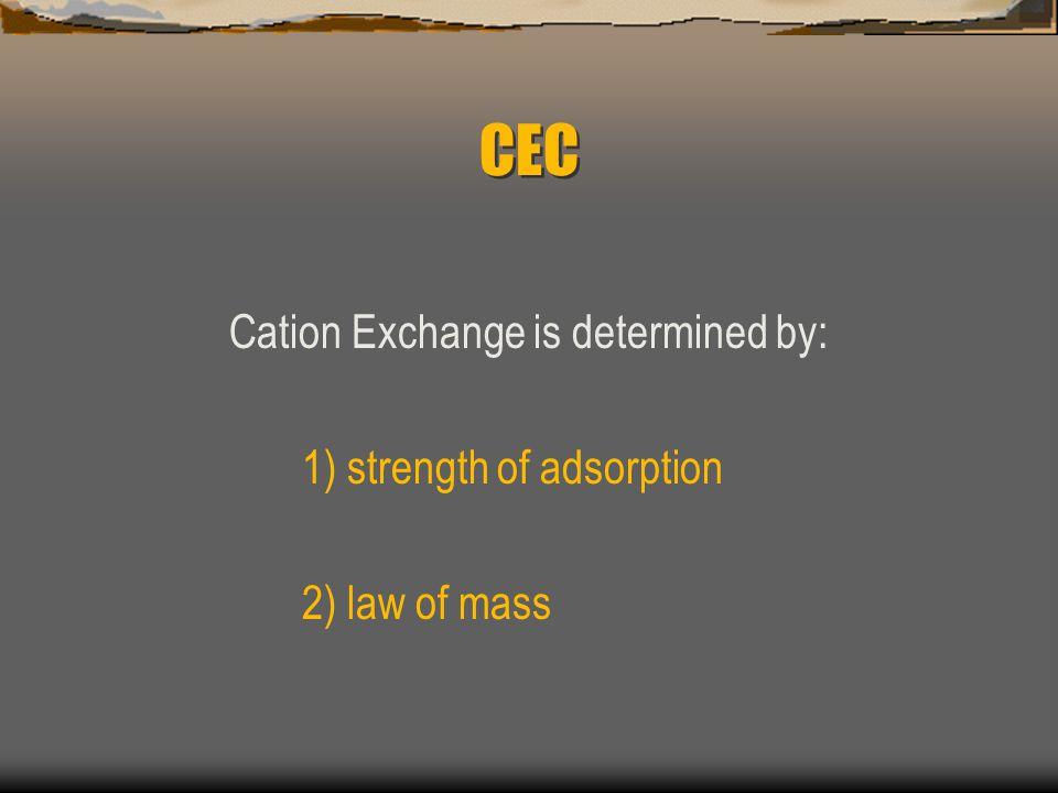 CEC 6 mEq/100g bases 10 mEq/100g sites = 60 % base saturation