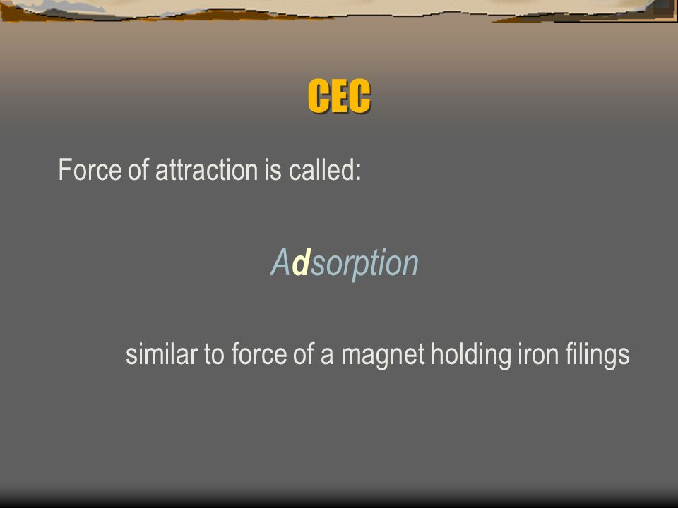 CEC Negative charge sites are referred to as...