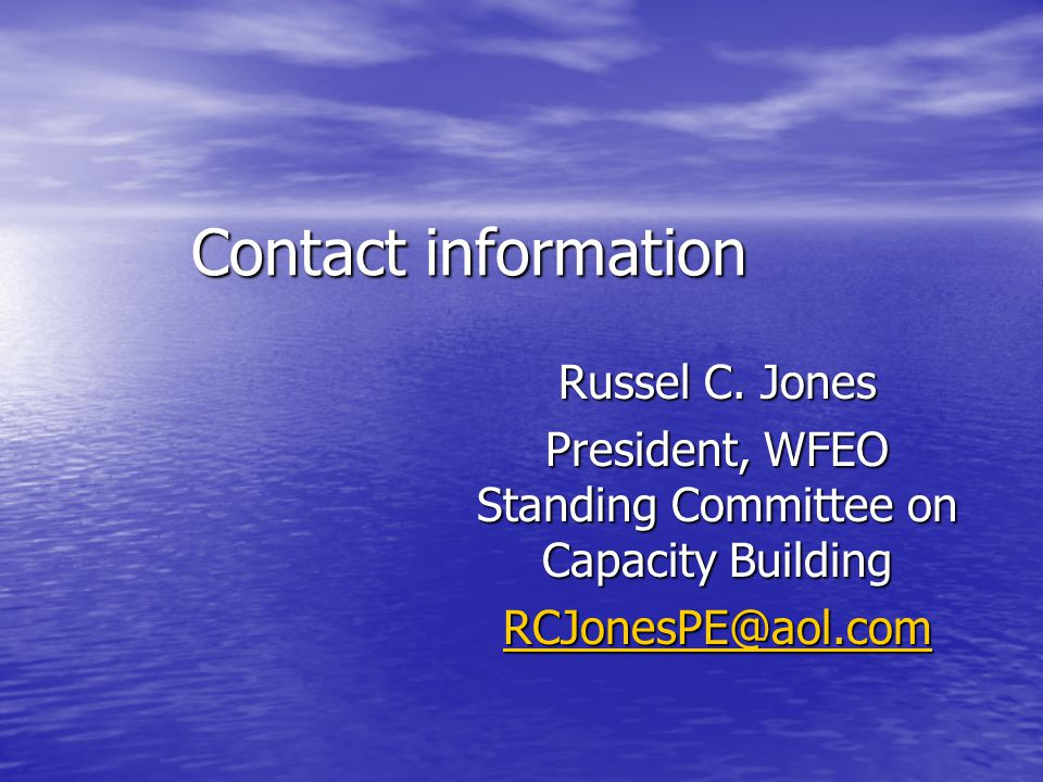 Contact information Russel C.