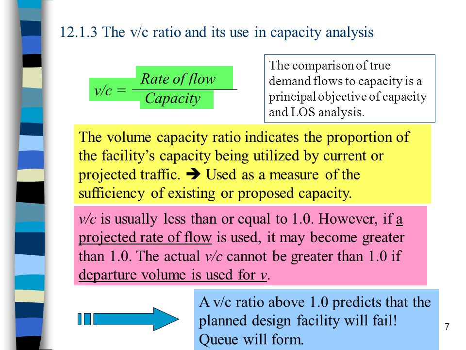 Chapter 1218 12.3.2 Operational analysis steps Free-flow speed (read carefully definitions of variables): Passenger car equivalent flow rate: Use either the graph or compute: Then Table 12.2 for LOS.