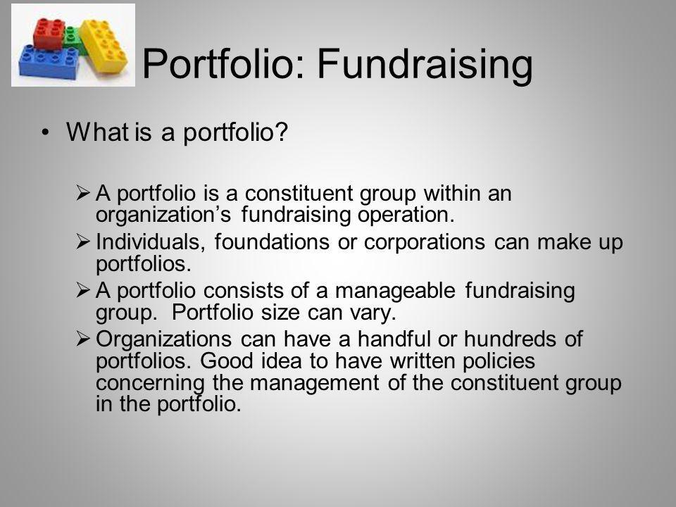 Portfolio: Fundraising What is a portfolio.